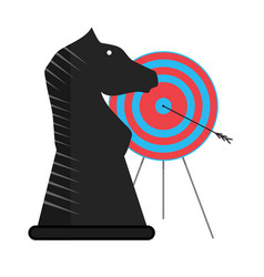 successful tactics and strategy vector image