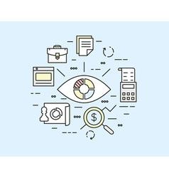 Web analytics information data processing vector image vector image