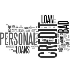 Who is eligible for a bad credit personal loan vector