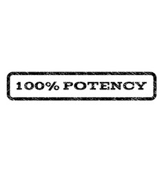 100 percent potency watermark stamp vector