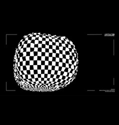 3d optical illusion distorted box vector