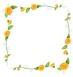 A border with orange flowers vector image
