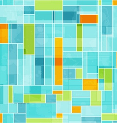 Abstract colored mosaic seamless pattern vector