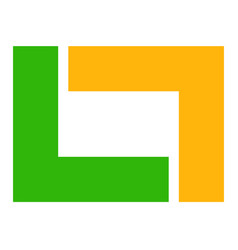Abstract geometric logo template interlocking vector