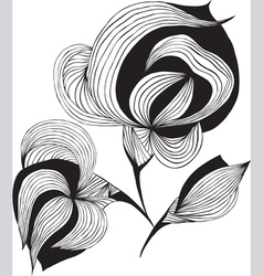 Abstract graphic flower vector