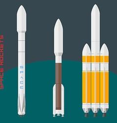 American space rockets set vector