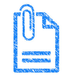 attached document grunge icon vector image