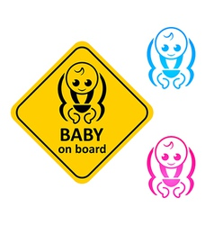 Baby on board vector