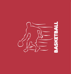 Basketball player template design vector