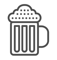 beer mug line icon beverage vector image