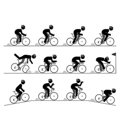 Bicycle racing pictogram vector image