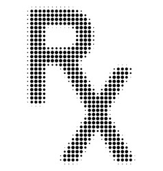 Black dot rx medical symbol icon vector