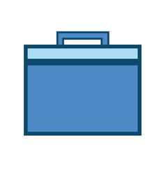 briefcase to save business papers document vector image