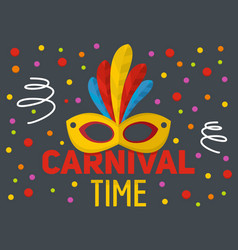 Carnival time logo flat style vector