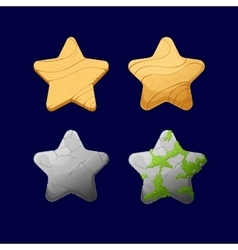 Cartoon different Stars vector image