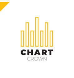 chart crown infographic rate chart or rate icon vector image
