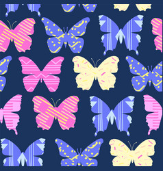 cheerful bright colorful cartoon butterflies vector image