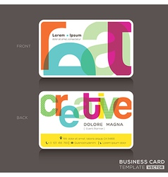 Creative Business cards Design Template vector image