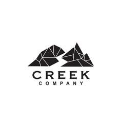 creek river logo design template vector image