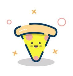 Cute pizza design vector