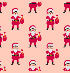 cute santa kids wearing christmas costumes vector image