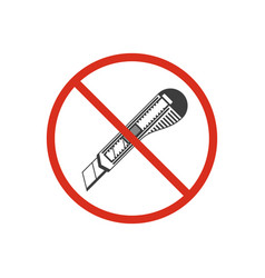 do not use cutter knife vector image