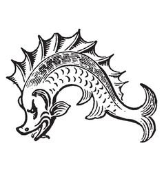 Dolphin vintage vector