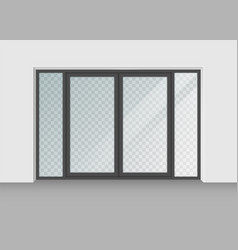Door with transparent glass isolated on vector