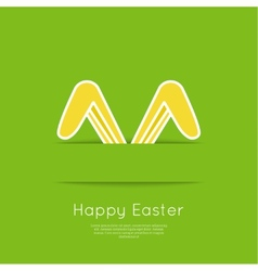 easter bunny ears vector image