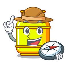 Explorer creative in gas cartoon tank container vector