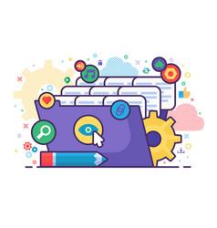 File explorer concept vector
