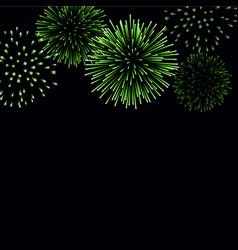 firework sparkle background card vector image