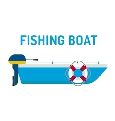 Fishing boat ship vector