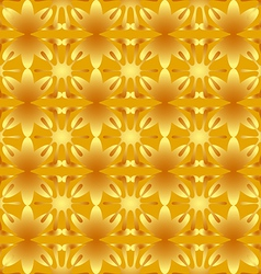 Floral pattern seamless background gold vector