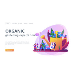 Garden workshop concept landing page vector