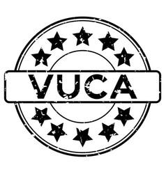 Grunge black vuca abbreviation volatility vector