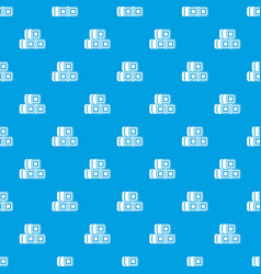 Hay bundles pattern seamless blue vector