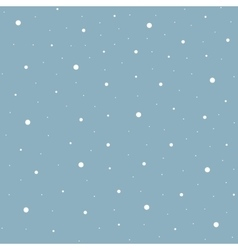 Heavy snowfall background vector image