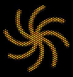 Hexagon halftone spiral galaxy icon vector