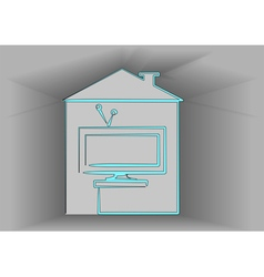 icon of television vector image