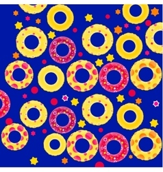 Inflatable circles pattern vector image