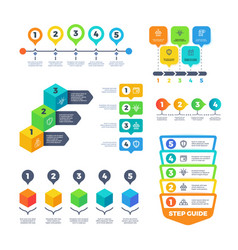 infographic diagrams strategy finance charts for vector image
