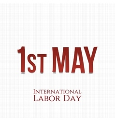 International Labor Day greeting Card Template vector