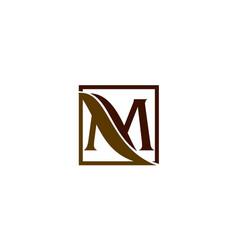 letter m leaf vector image