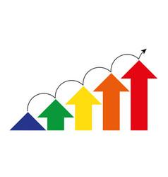 Levels successful business motivation concept vector