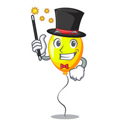 Magician yellow balloon isolated on for mascot vector