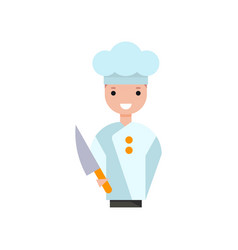 male chef cook character boy in uniform standing vector image