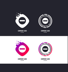 Minus sign icon negative symbol vector