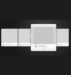 mobile page with interface carousel for social vector image
