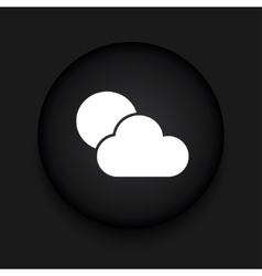 modern weather black circle icon vector image